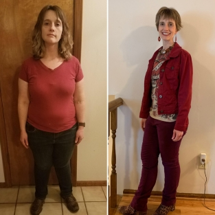 kleine dicke Frau und gleiche Frau schlank