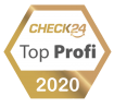 goldenes Top Profi Siegel 2020 von Check24